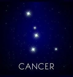 Constellation cancer zodiac sign astrology vector