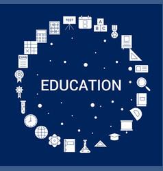 creative education icon background vector image