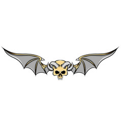 dead skull with goat horns and iron vector image
