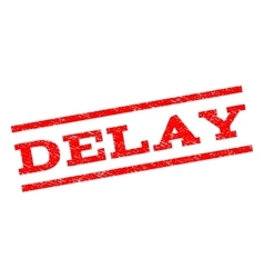 Delay Watermark Stamp vector