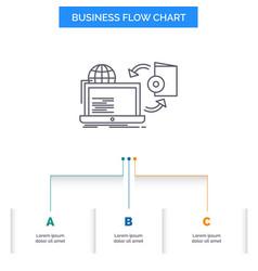 Disc online game publish publishing business flow vector