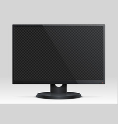 Empty computer lcd monitor with transparency vector