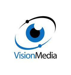 eye icon vision media logo concept design template vector image