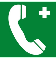 First Aid Telephone Safety Sign vector image