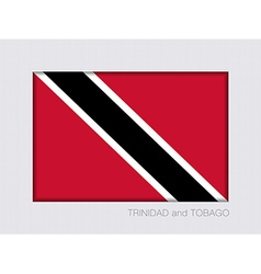 Flag of Trinidad and Tobago Aspect Ratio 2 to 3 vector