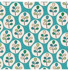 Floral leaves pattern vector