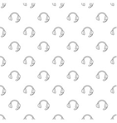 headset pattern seamless vector image