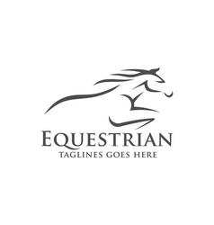 horse racing logo template vector image