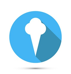 Ice cream Flat style icon vector image