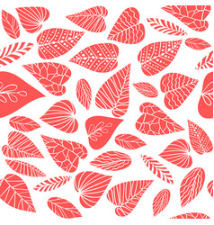 leaves on white pattern vector image