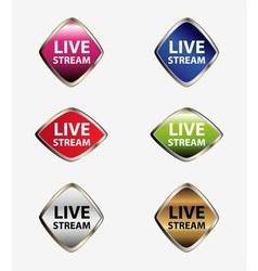 Live stream icon set vector