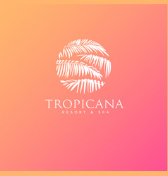 logo tropicana spa leaves vector image