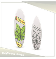 Medical marijuana surfboard one vector