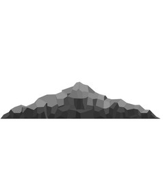 mountain of large rock and stone vector image