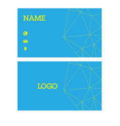 name card triangle blue background image vector image