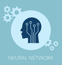 neural network flat creative concept design vector image