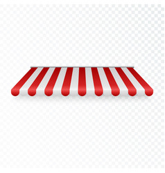 Outdoor awning striped tent or textile rofor vector