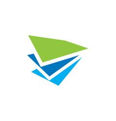 Paper shape data business finance logo vector