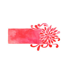 red chrysanthemum flower rectangle frame vector image