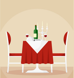 reserved dining table and vector image
