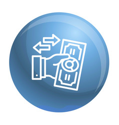 Reverse bribery icon outline style vector