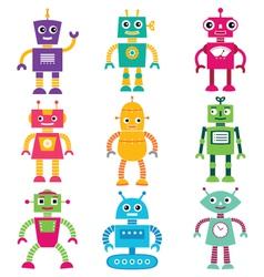 Robots set vector image