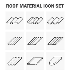 Roof tile icon vector image
