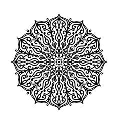 Round mandala pattern vector