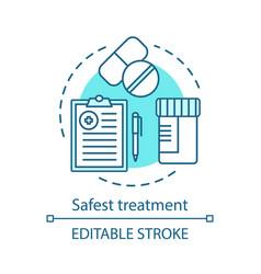 Safest treatment concept icon vector