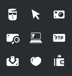 Set of digital video icons vector