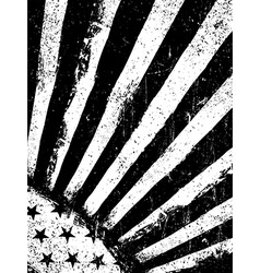 Stars and Rays Monochrome Negative Photocopy vector image