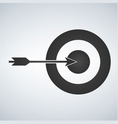 Target and arrow icon isolated on white background vector