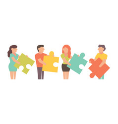 teamwork for business design and vector image