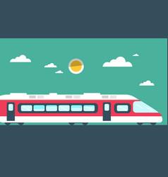 train flat design vector image