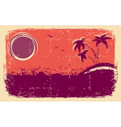 Tropical backgroundAbstract grunge vector