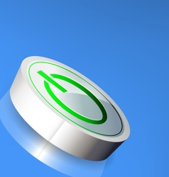Turn on button vector