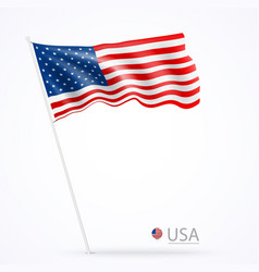 united states america flags banner vector image