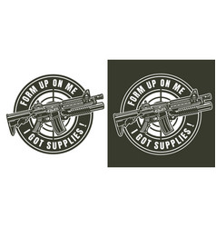 vintage monochrome military badge vector image