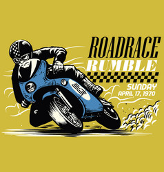Vintage motorcycle race vector