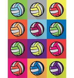 Volleyball Colorful Pattern vector image