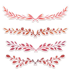 watercolor hand drawn borders vector image