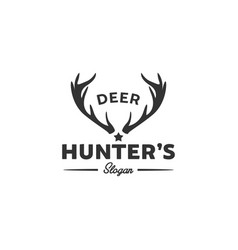 wildlife deer logo designs hunting club logo vector image