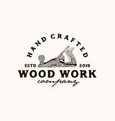 Wood work vector