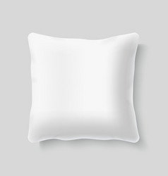 Blank white square realistic pillow cushion vector image vector image