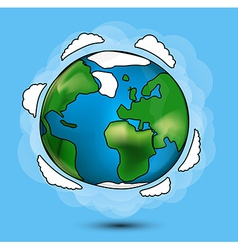 Cartoon Globe vector image