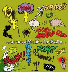 comic book words vector image vector image