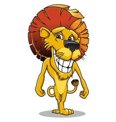 cute smiling lion vector image