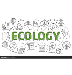 lines slides template ecology vector image