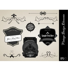 ornate labels vector image vector image