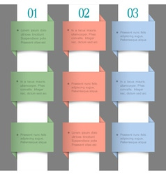 Paper numbered banners in pastel colors vector image vector image